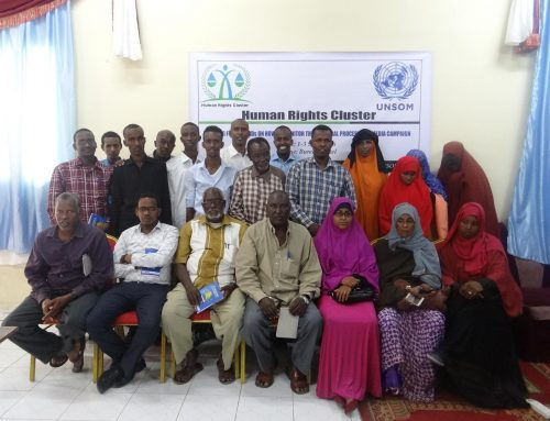 Two days training for Human Right Defenders in Somalia-Mugadisho