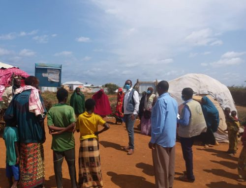 COVID-19 AWARENESS CAMPAIGNS TO PREVENT AN OUTBREAK IN BAIDOA IDP CAMPS.